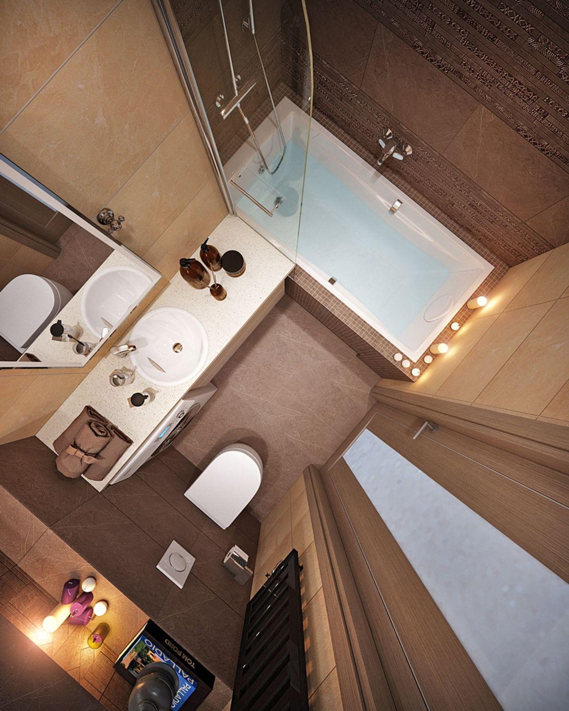 Ванная комната 5 кв м в шоколадных тонах