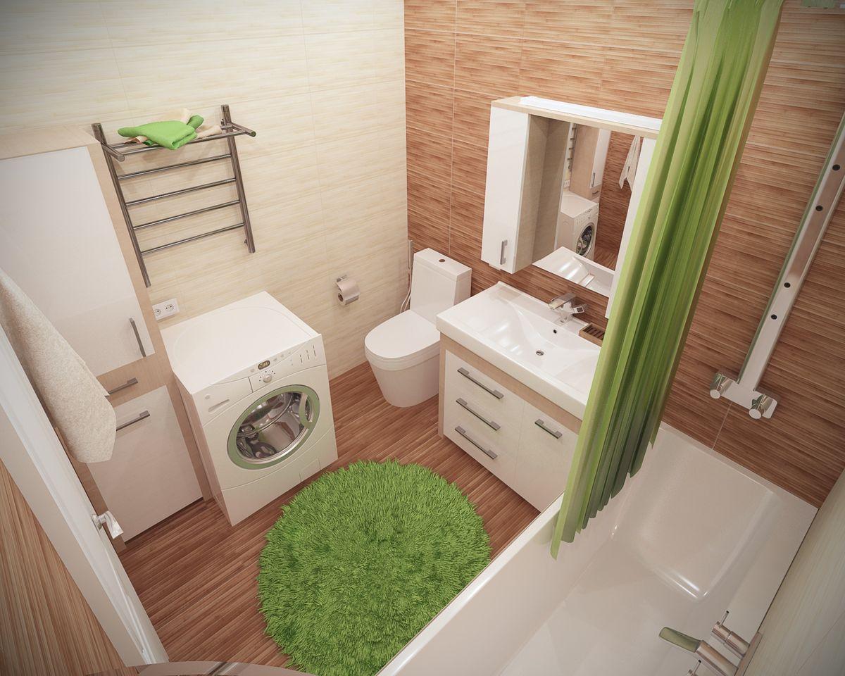Ванная 6 кв м с аксессуарами ярко-зеленого цвета