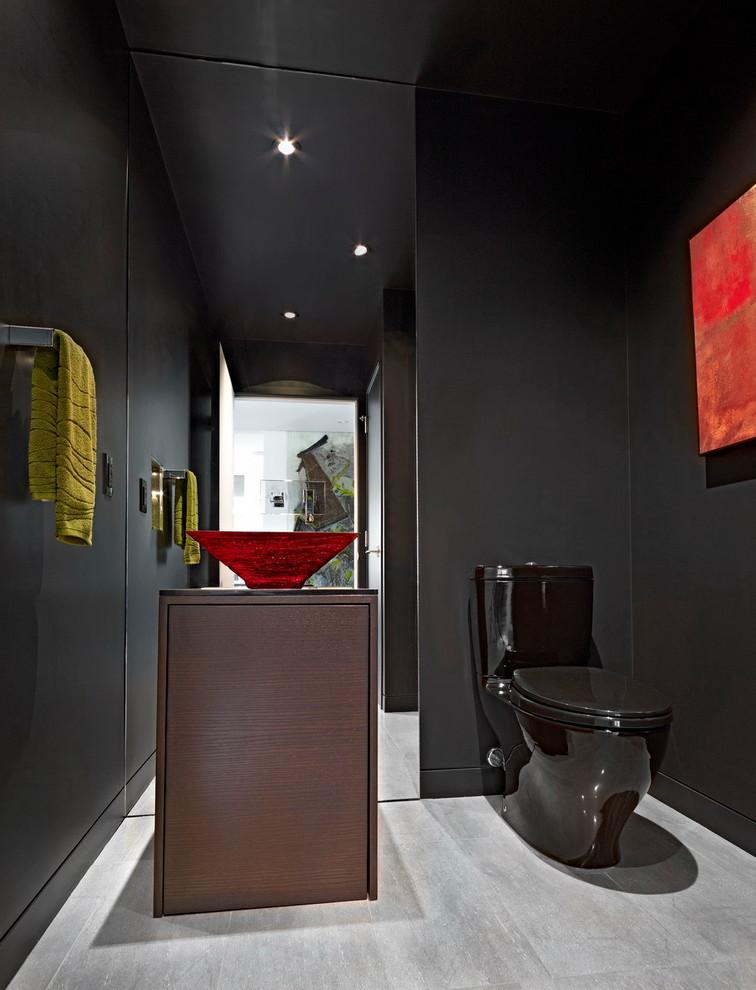 Modern bathroom toilet black
