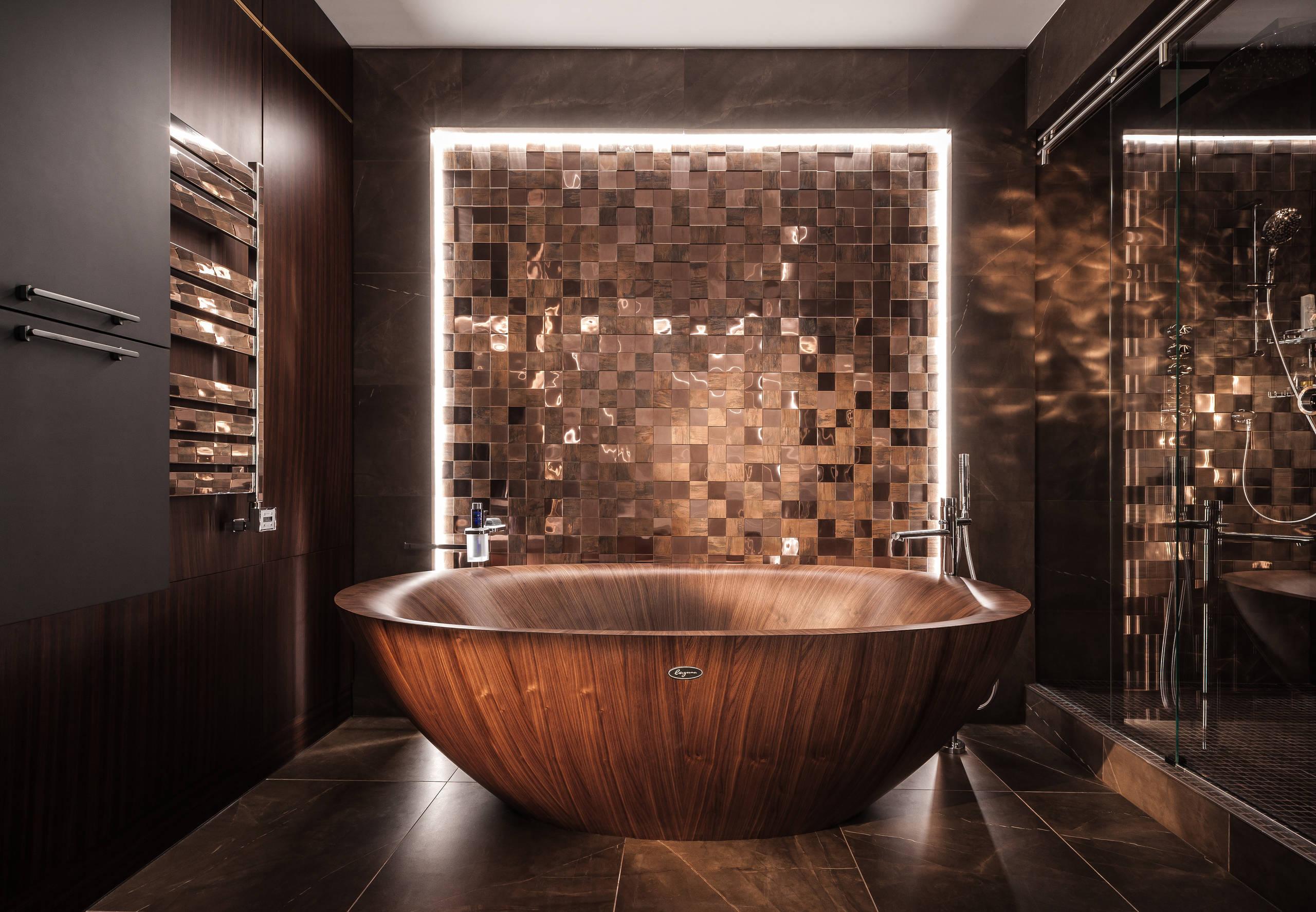 Темно-коричнвый цвет в интерьере вашей ванной