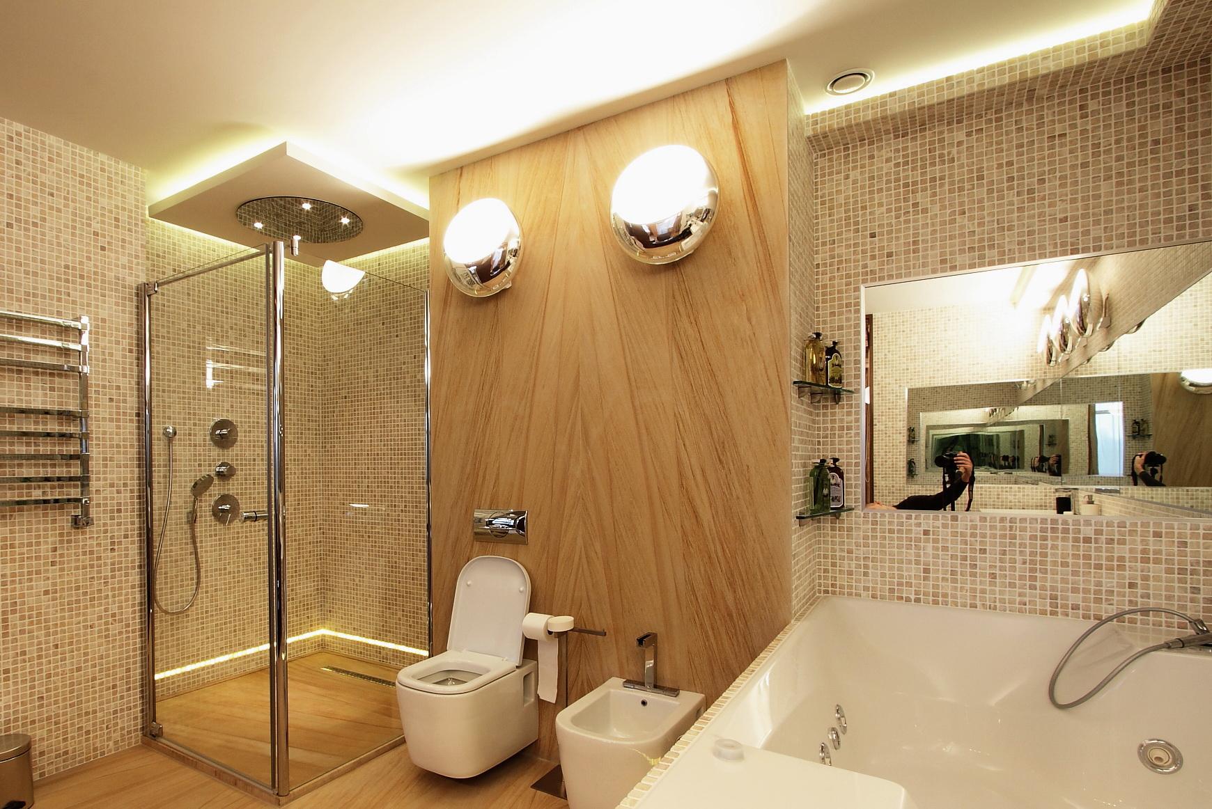 Светодиодное освещение ванной комнаты по периметру