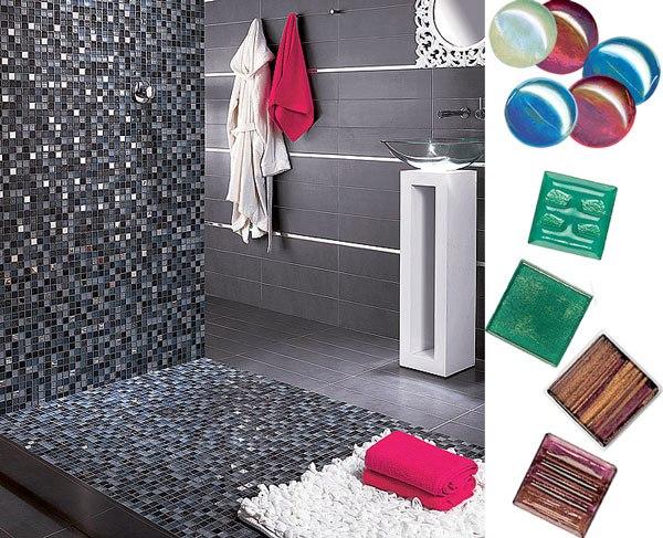 Декор ванной комнаты мозаикой