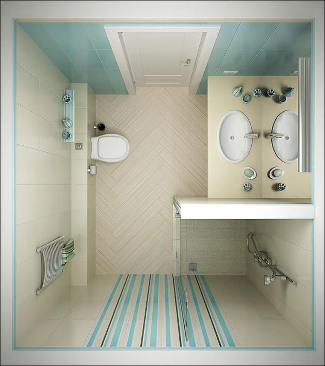 Ванная комната дизайн 2х2