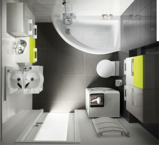 Дизайн маленьких ванных комнат совмещенных с туалетом