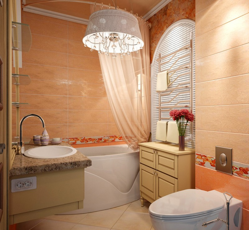Дизайн интерьер ванной комнаты в квартире