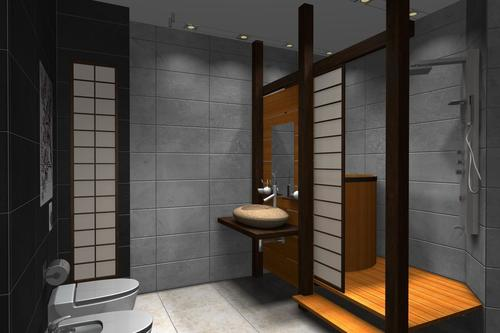 Traditional japanese bathroom