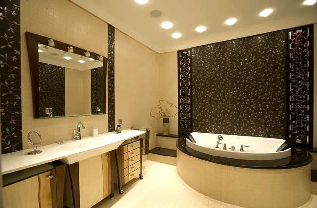 Дизайн потолков из гипсокартона в ванной