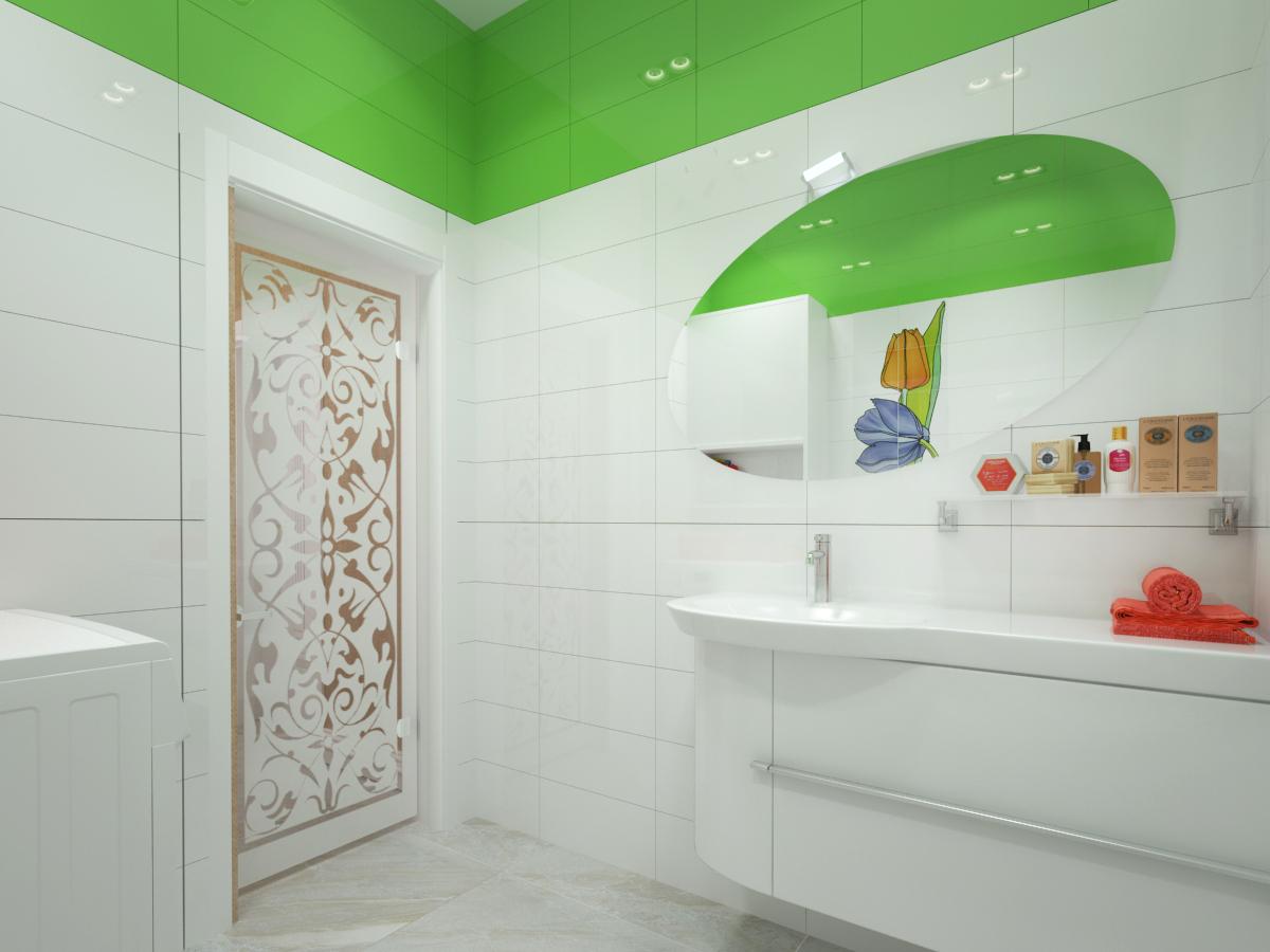дизайн проект ванной комнаты из керамической плитки