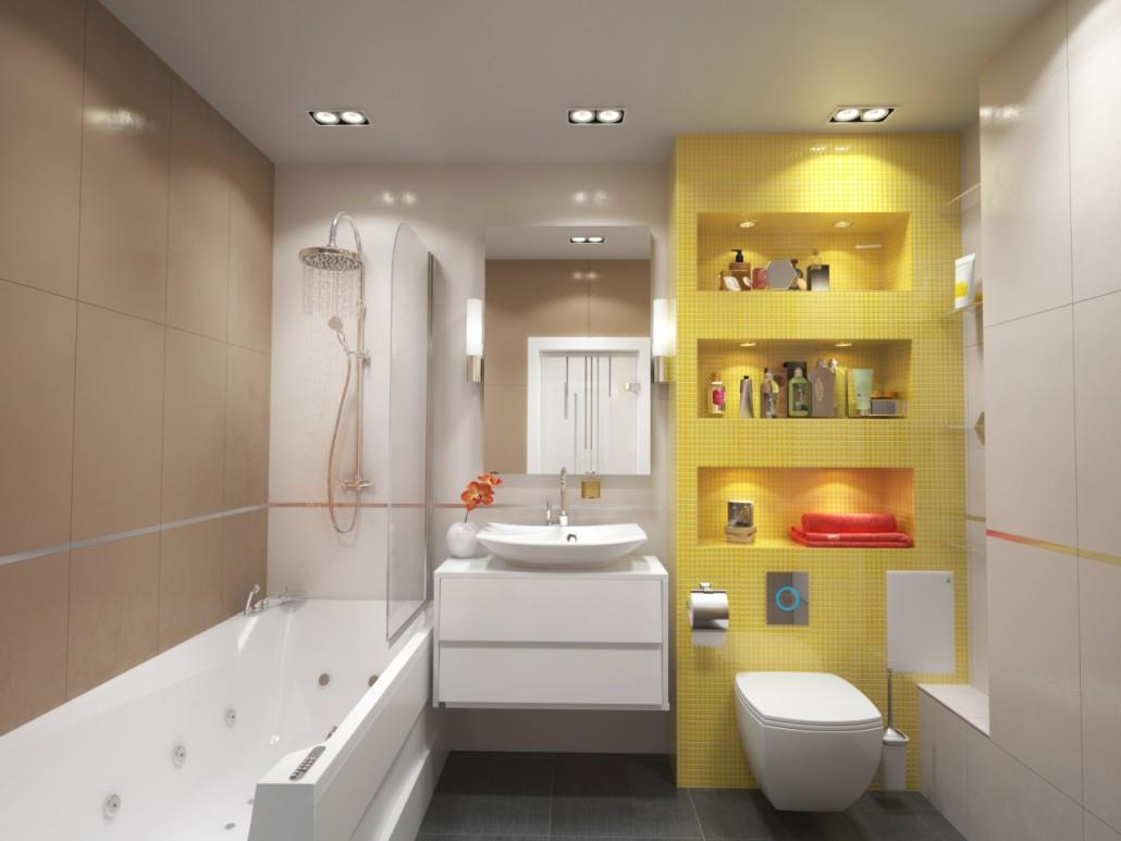 Готовые дизайн проекты ванных комнат