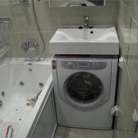 Дизайн ванной комнаты со стиральной машиной в хрущевке