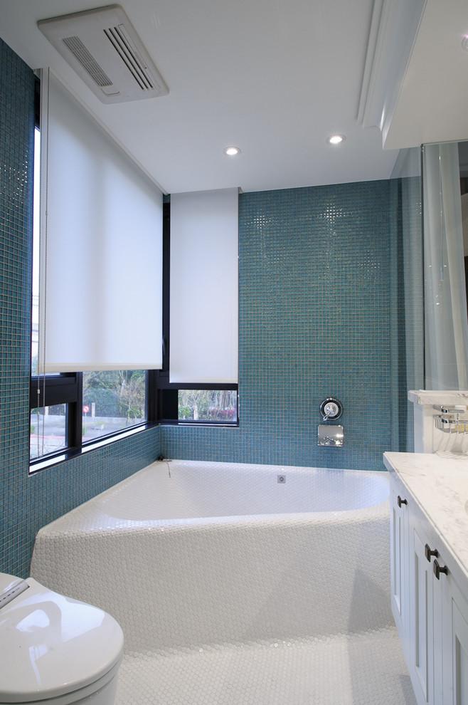 Дизайн ванных комнат с угловыми ваннами фото