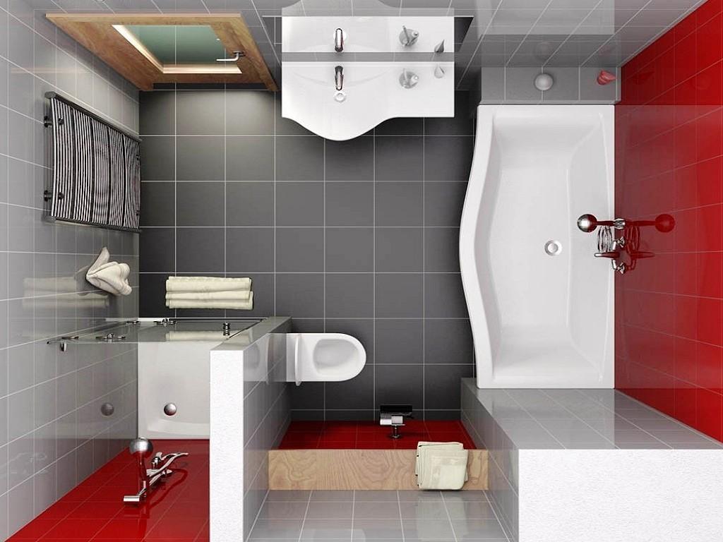 дизайн квадратной ванной комнаты фото