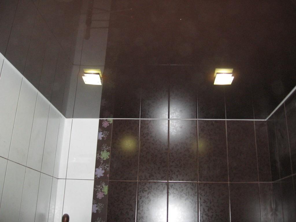 Натяжные потолки в ванной дизайн