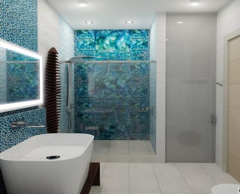 Дизайн ванной комнаты с душевой кабиной фото