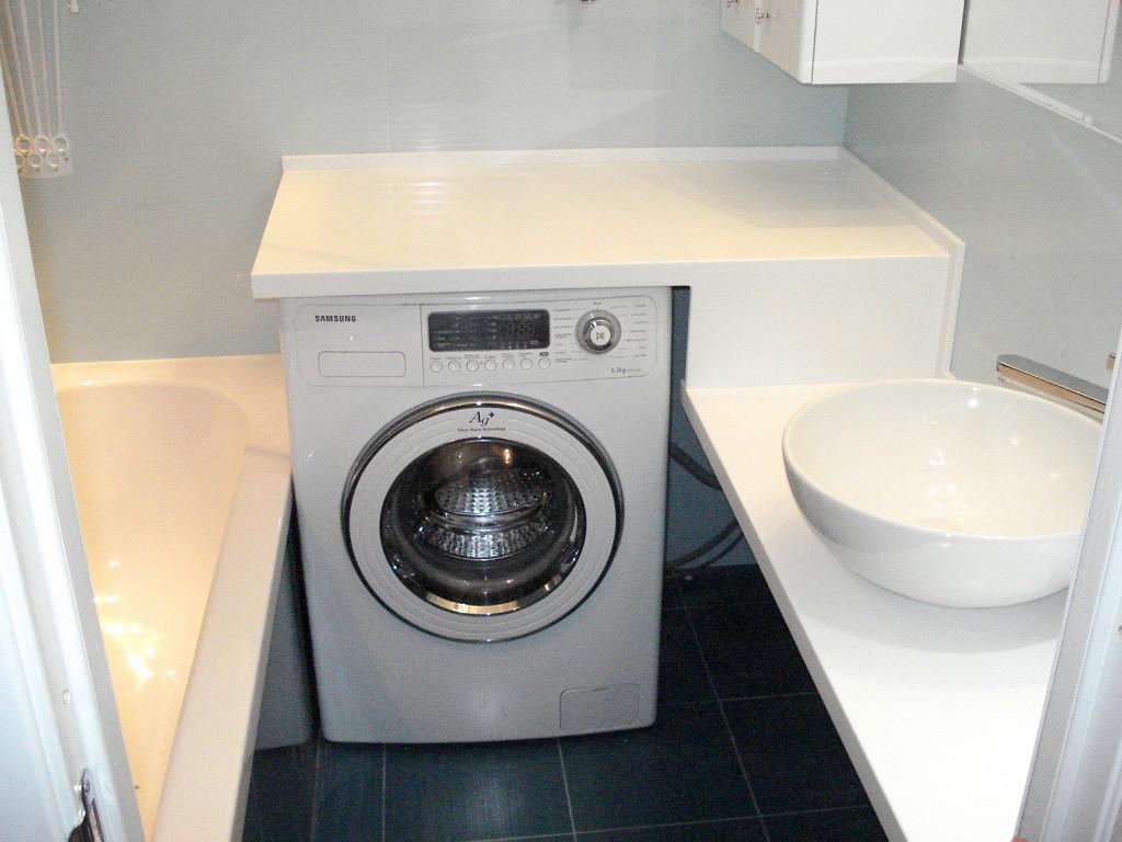 Столешница под стиральную машину для ванной своими руками