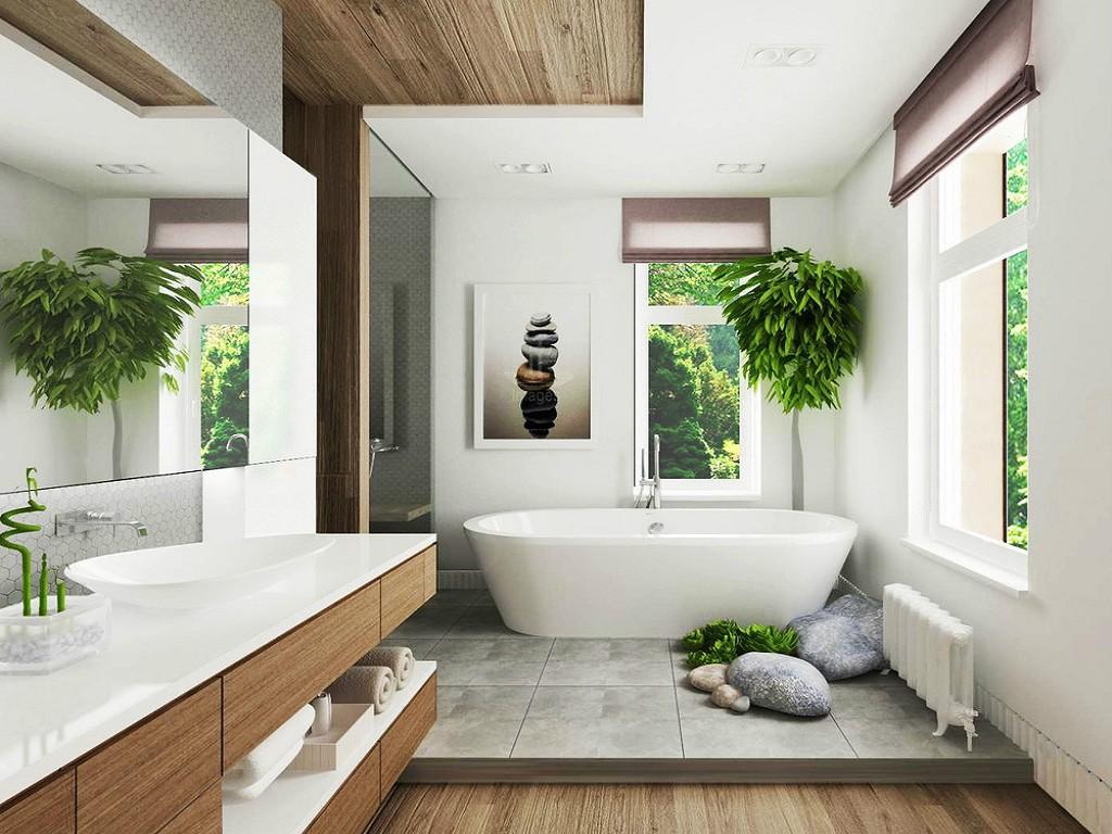 ванные комнаты фото в частном доме
