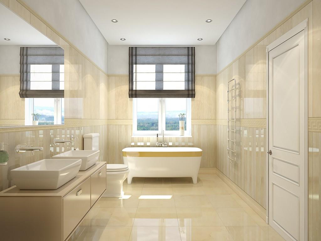 Дизайн ванной комнаты в теплых тонах фото