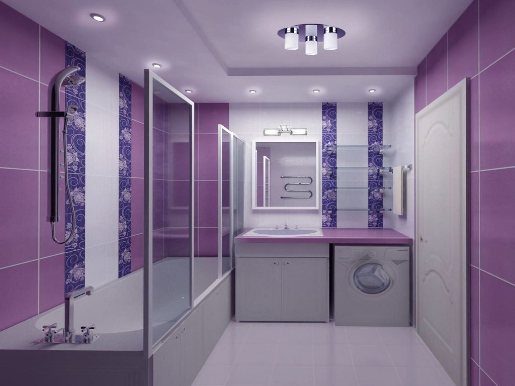 Фиолетовая ванная комната фото
