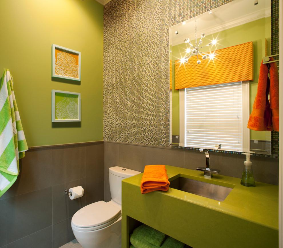 Фото ванной комнаты в оливковом цвете