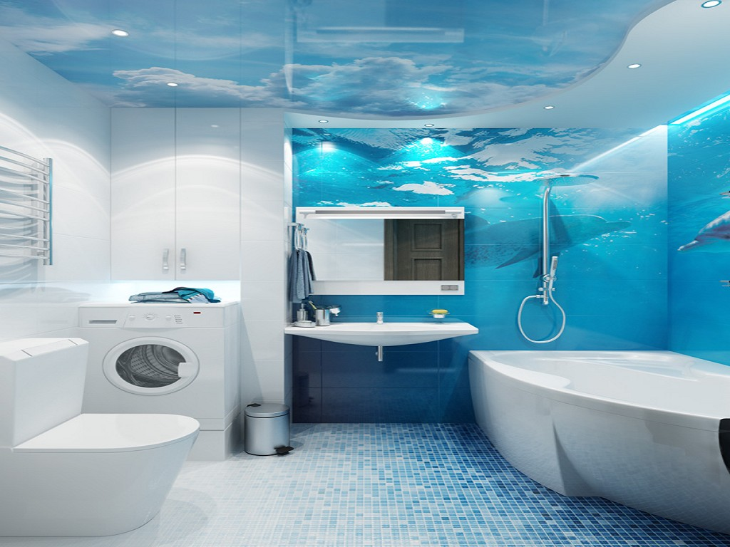Image Result For Small Blue Bathroom