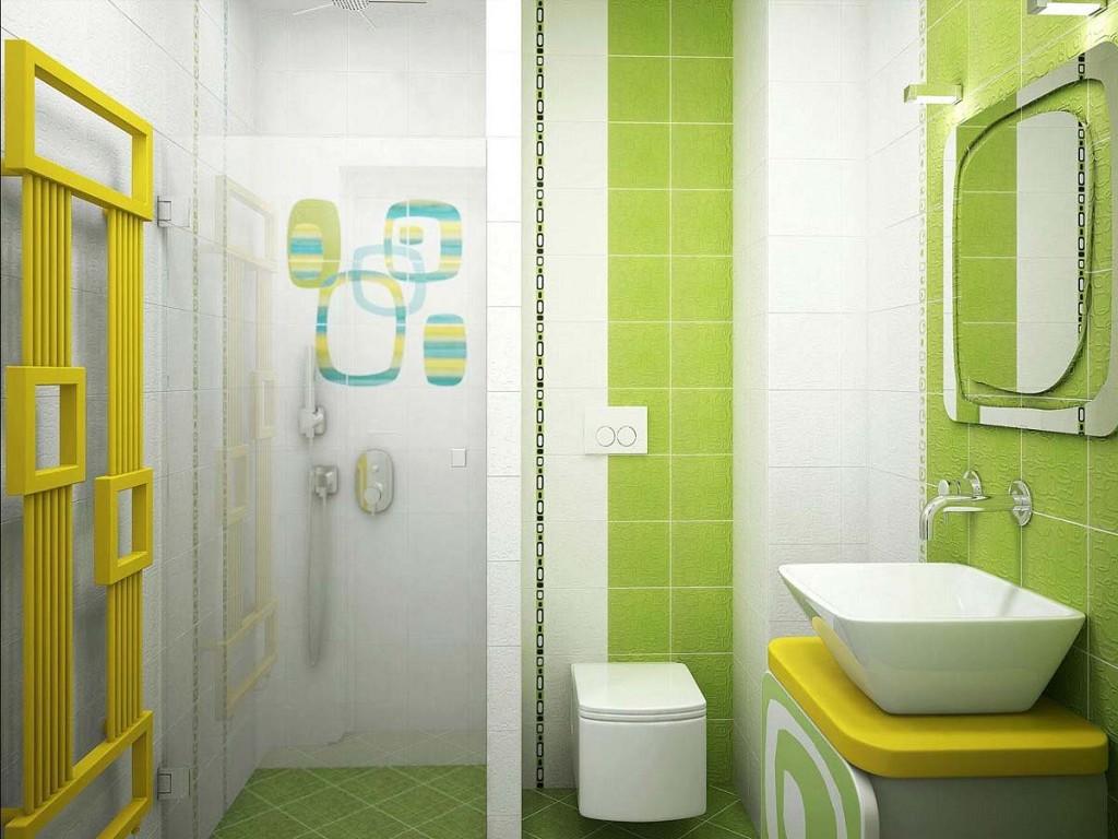дизайн ярких ванных комнат