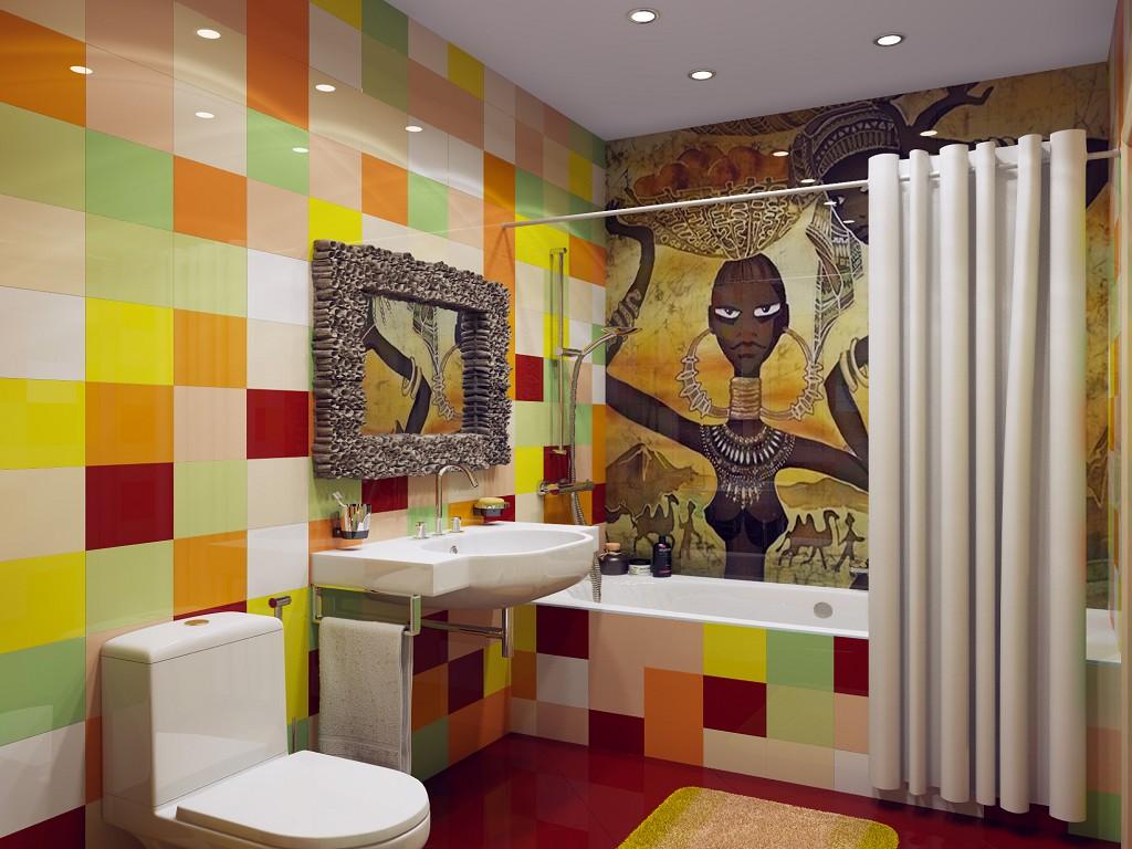 Дизайн комнаты разноцветные стены