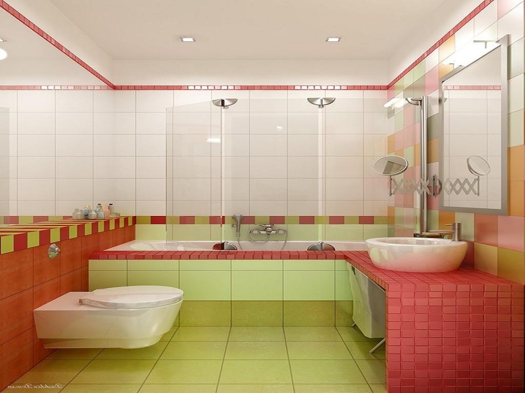 Яркий дизайн ванной комнаты