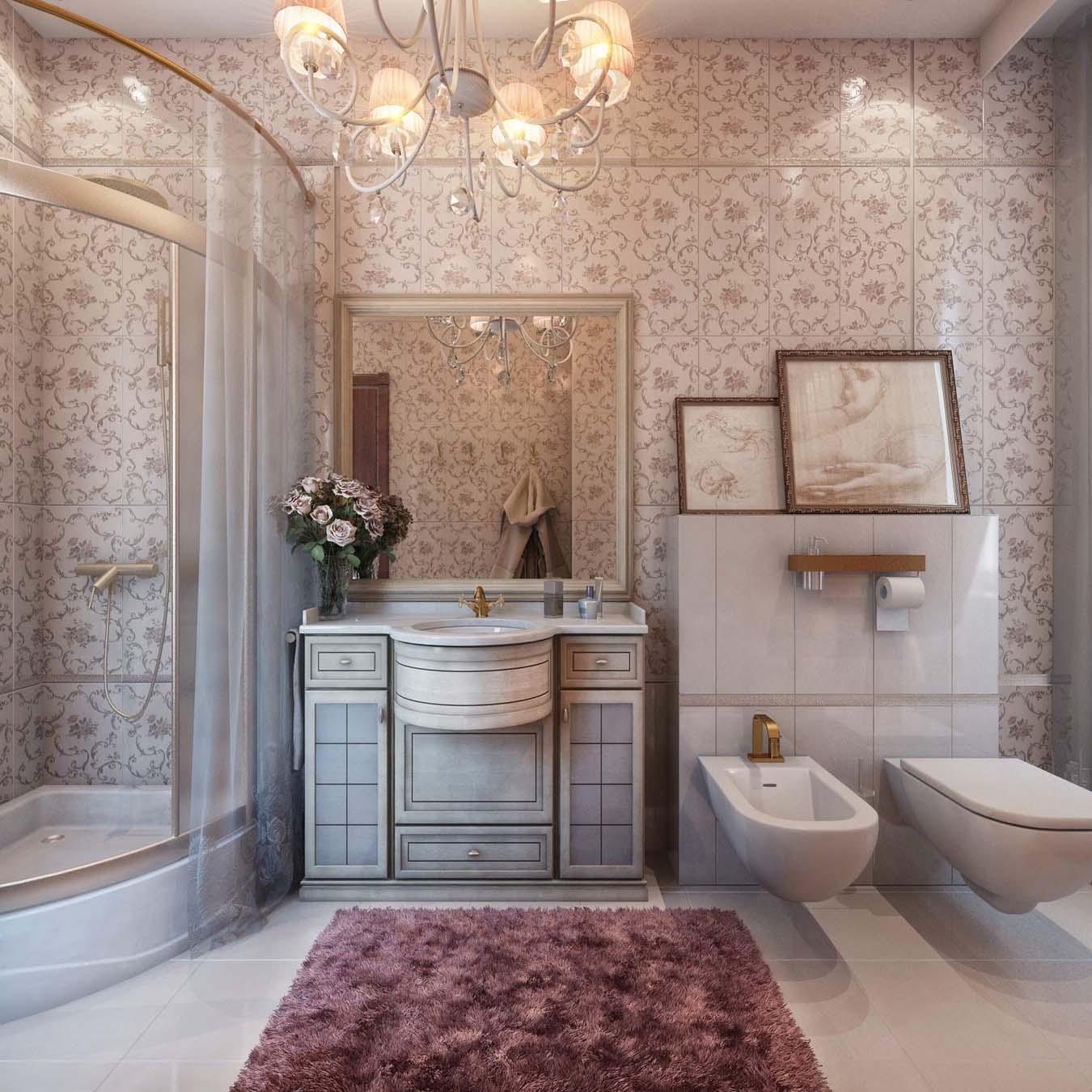 ванная комната в стиле кантри фото