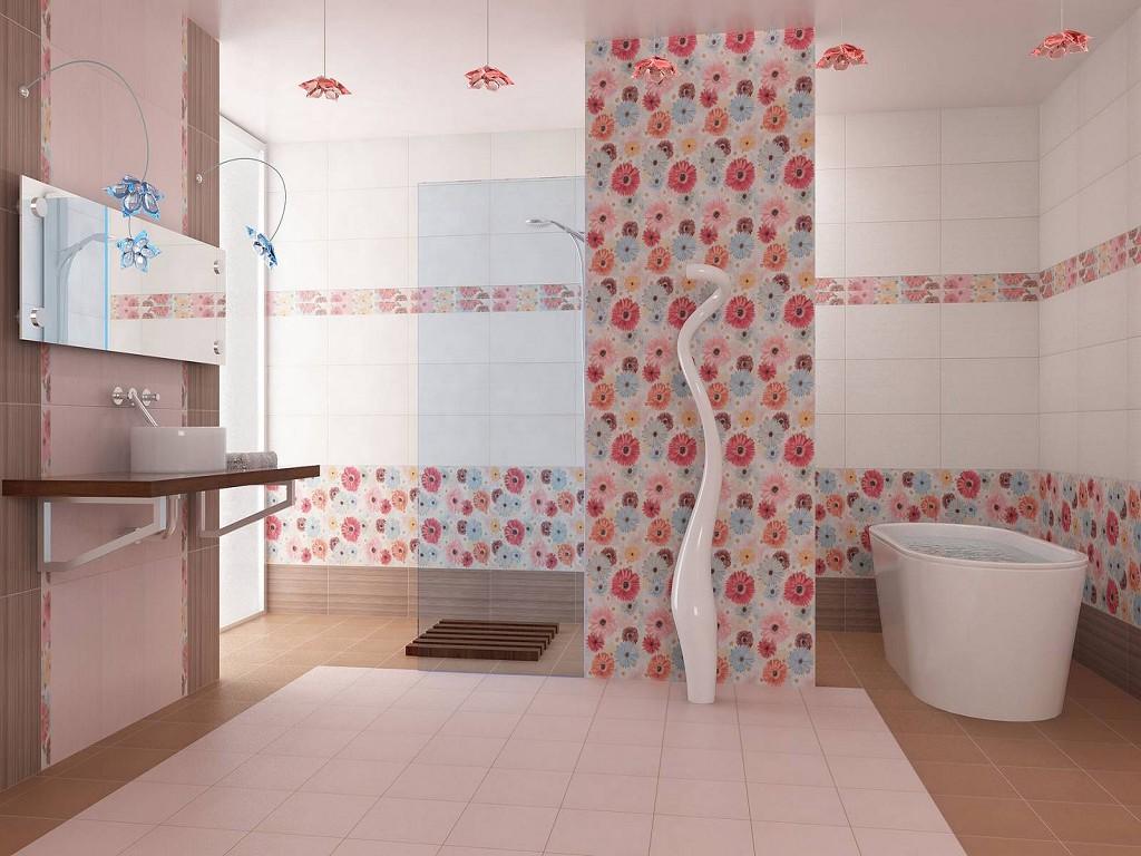 Яркий декор в ванной