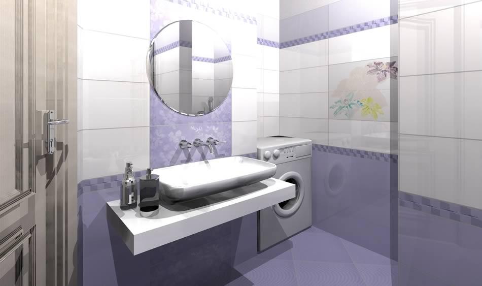 Дизайн ванной комнаты в кафеле фото