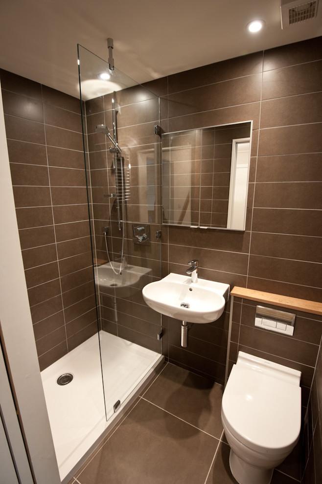 ванная комната в коричневых тонах фото