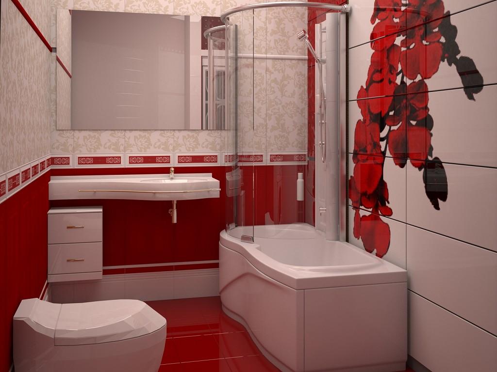 Яркая ванная комната дизайн