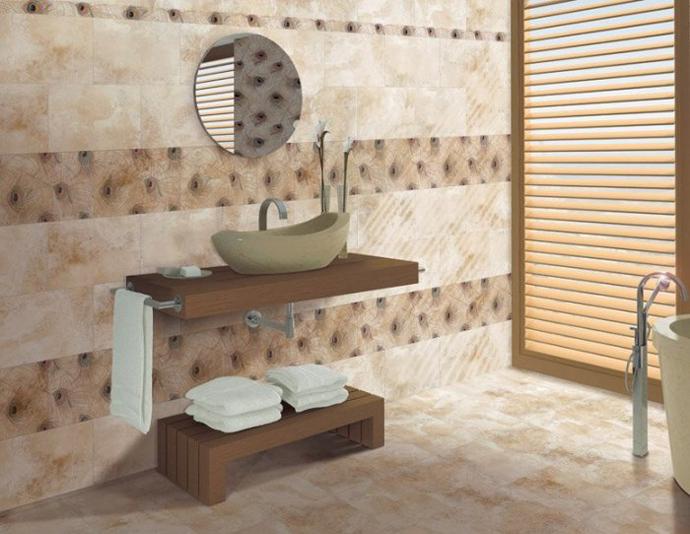 Шоколадная плитка в ванной. Производитель:   Gres De Valls