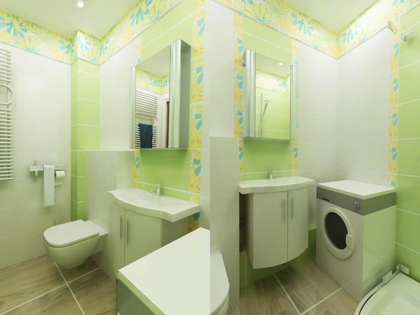 интерьер ванной комнаты в брежневке фото