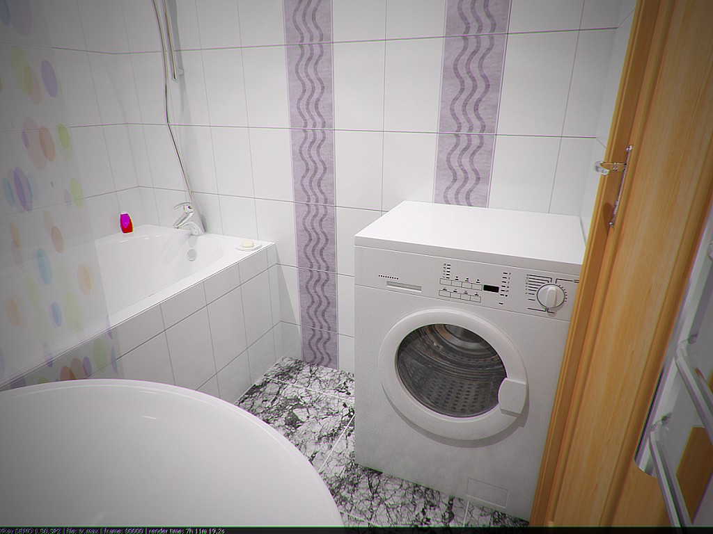 ванна в брежневке со стиральной машиной