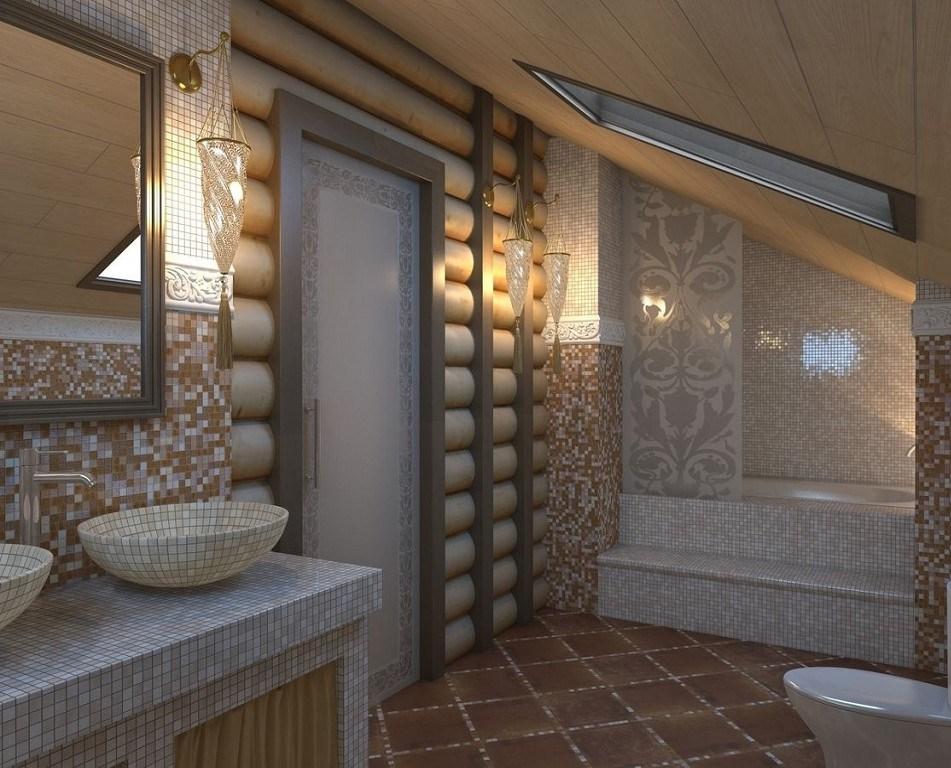 санузел в деревянном доме дизайн фото