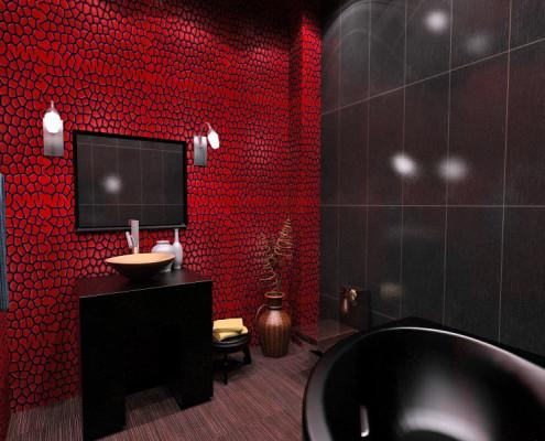темная плитка в ванной фото