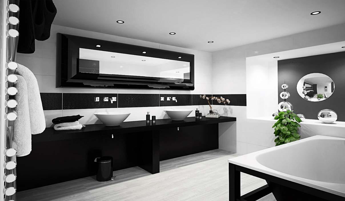 дизайн ванной комнаты в темных тонах фото