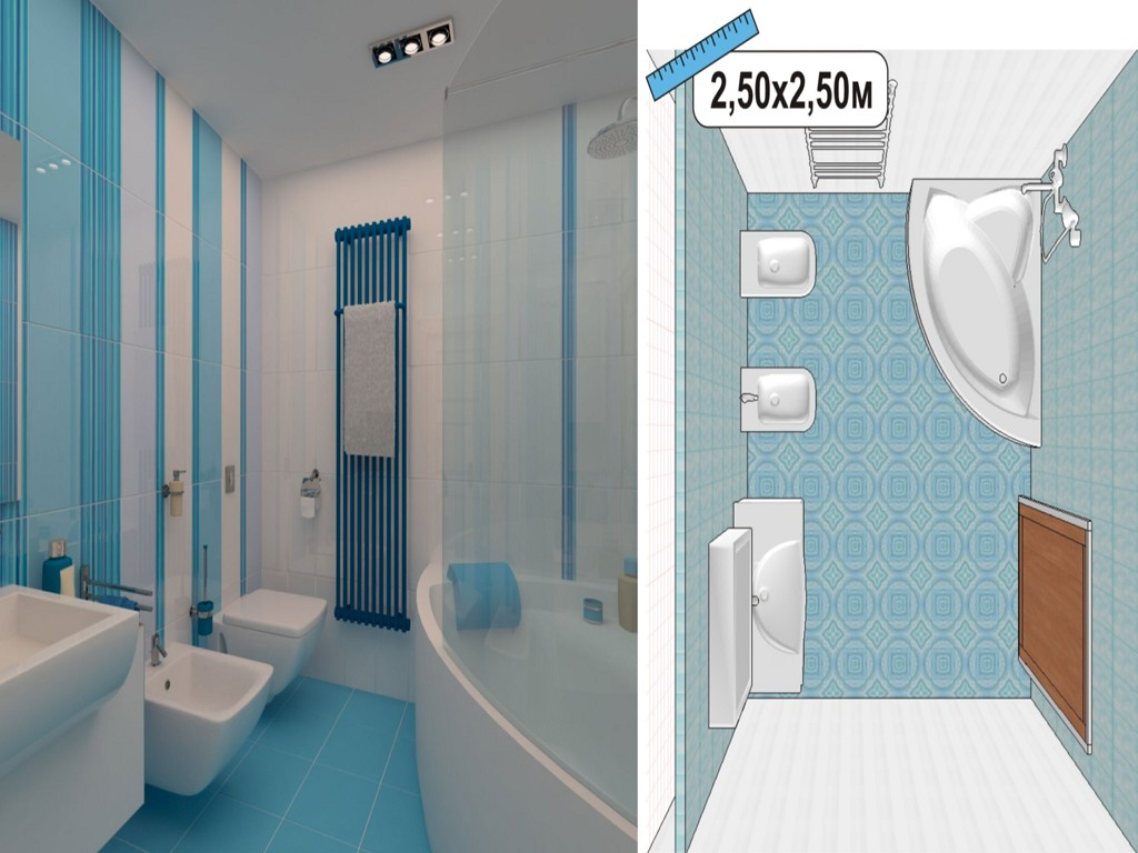 Дизайн ванной под покраску