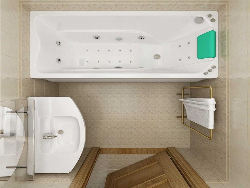 Коричневая ванная комната с белой
