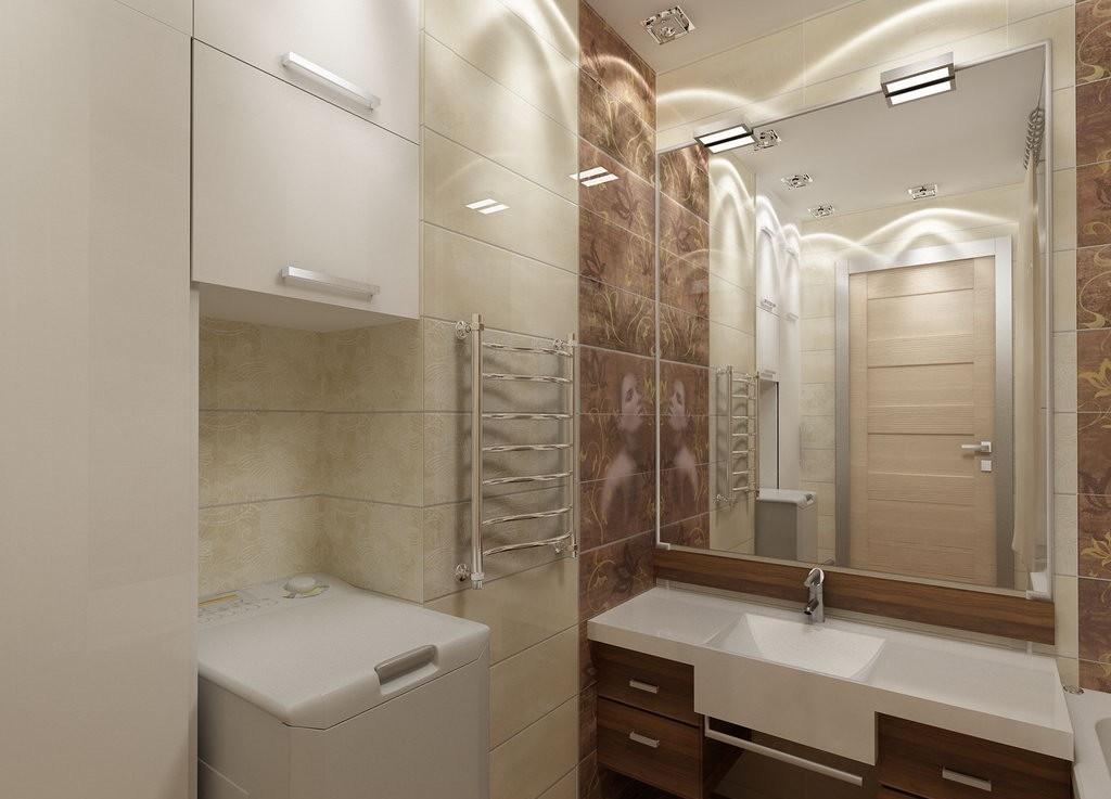 Ванная комната в бежевых тонах фото