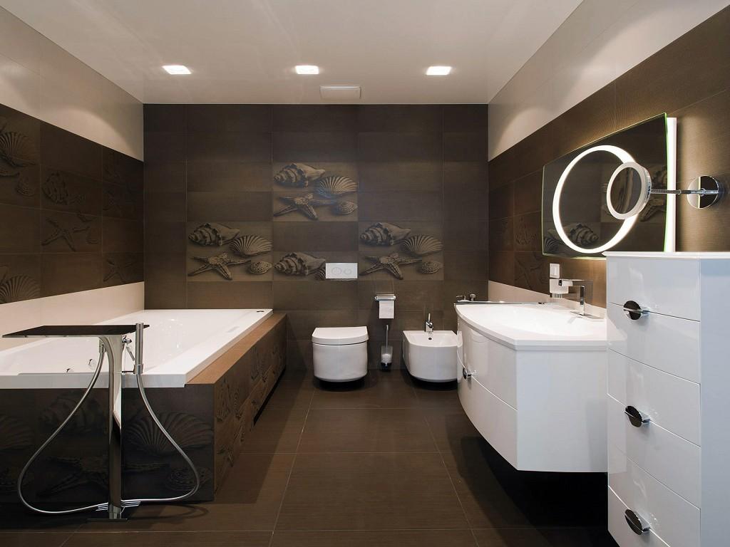 ванные комнаты в темных тонах
