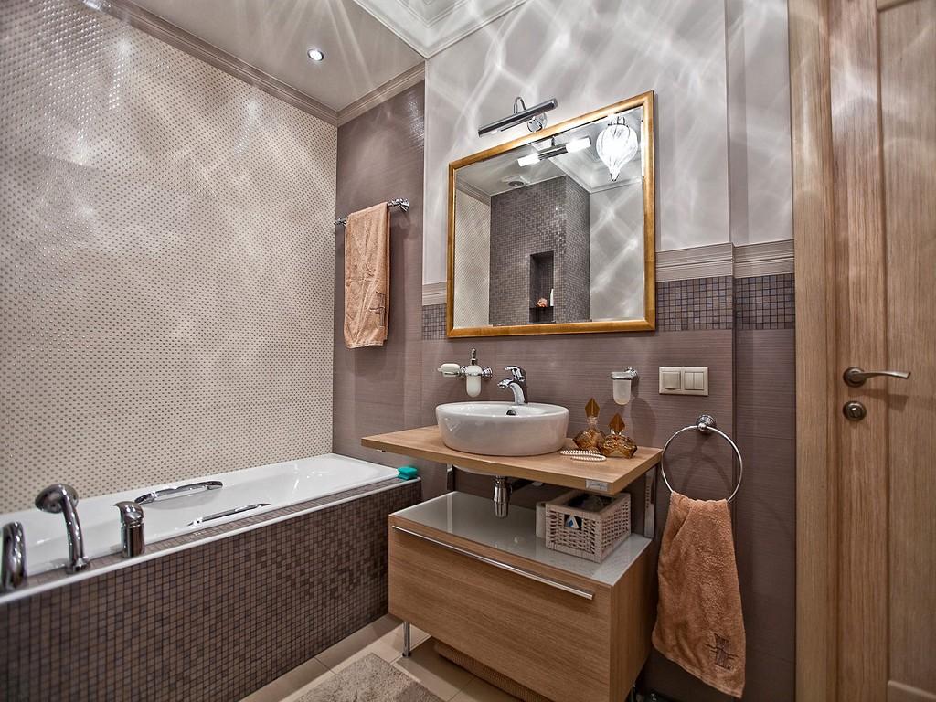 ванная комната в темных тонах фото