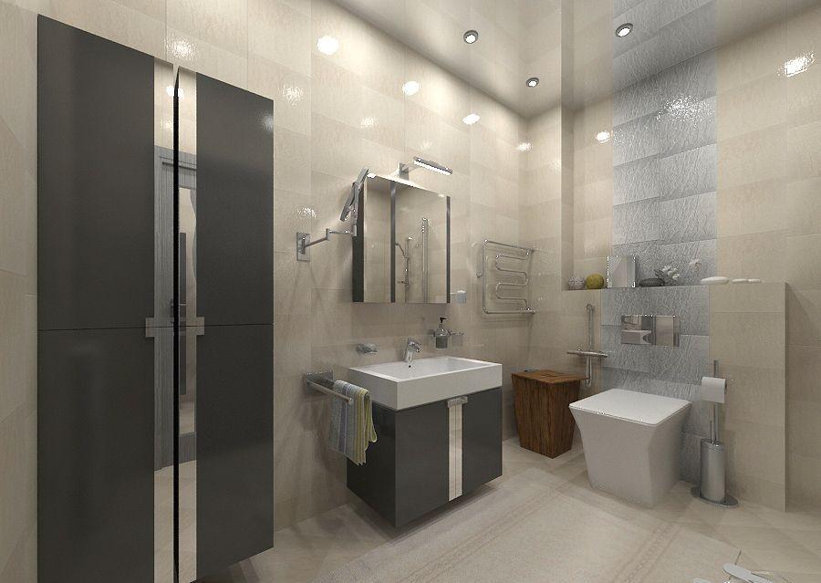 Дизайн ванной в сером цвете: особенности оформления, фото 84