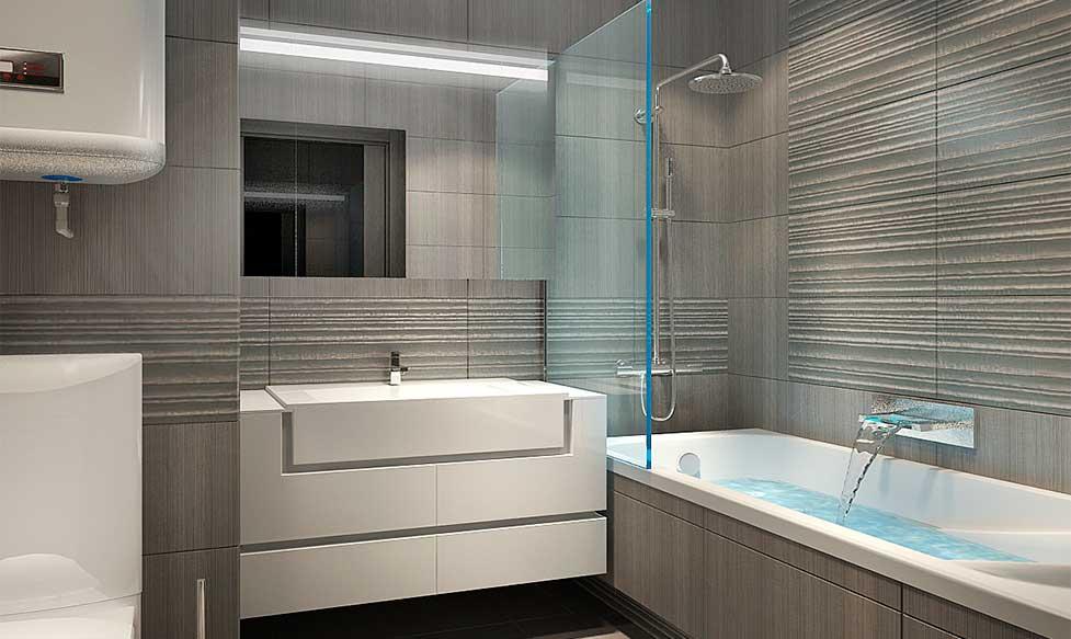 Дизайн ванной в сером цвете: особенности оформления, фото 76