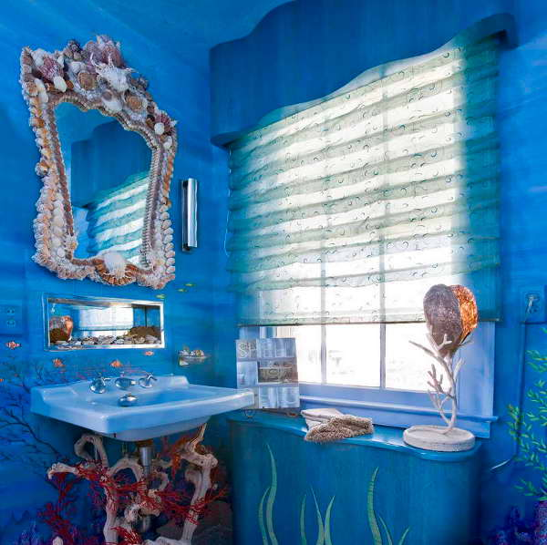 Bathroom sea theme