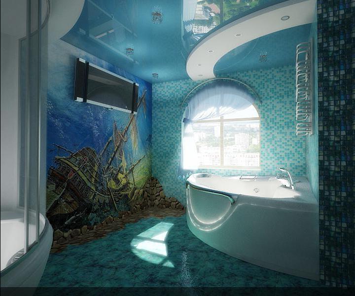 Ванна в морском стиле дизайн фото