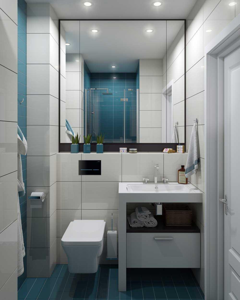 Ванная 3 кв м с необычным дизайном