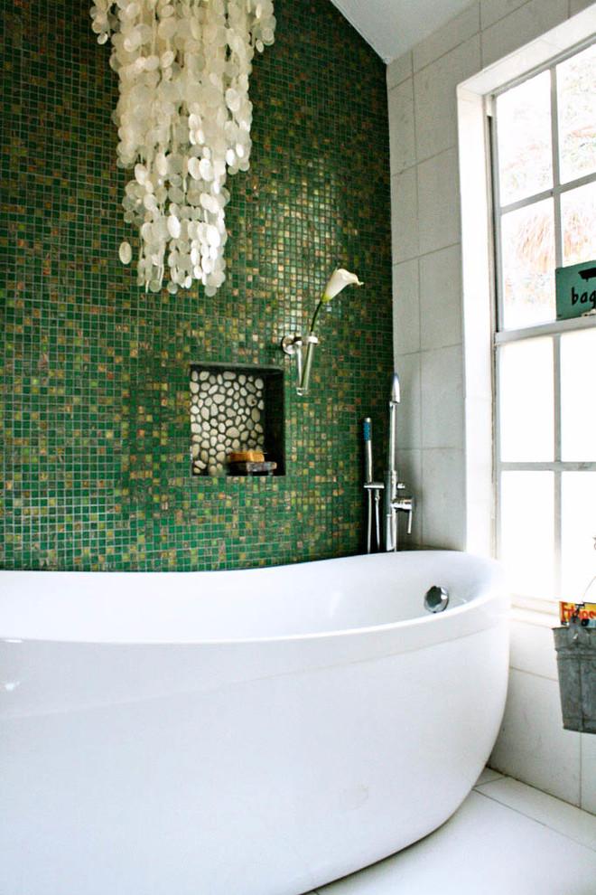 зеленая ванная комната фото