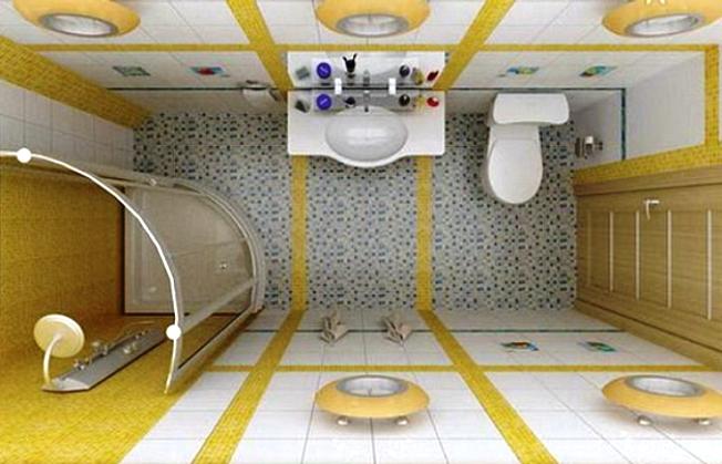 Совмещенный санузел с ванной маленьких размеров фото